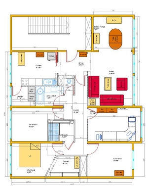 Plan am nagement int rieur cad concept florent marchand for Plan amenagement interieur