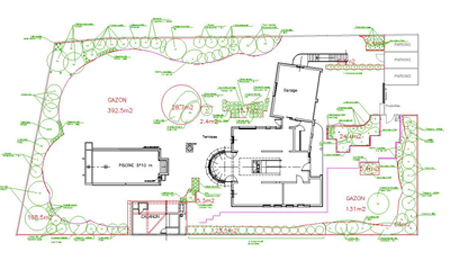 Plan paysagiste cad concept florent marchand for Implantation jardin